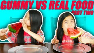 Gambar cover GUMMY FOOD VS REAL FOOD CHALLENGE [PART 2]
