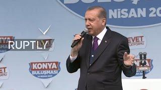 LIVE  Erdogan holds last rally ahead of Turkey's constitutional referendum