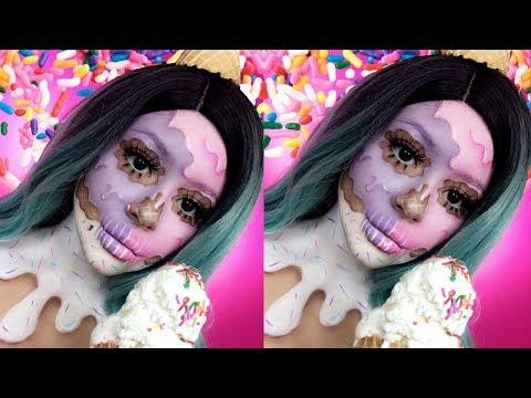 Download Youtube: 🍦Ice Cream Skull Halloween Makeup Tutorial | Daisy Marquez🍦