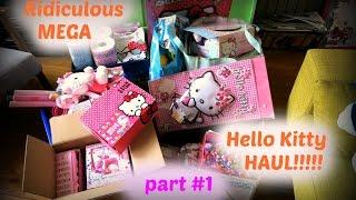 Rediculous MEGA Hello Kitty HAUL Part #1
