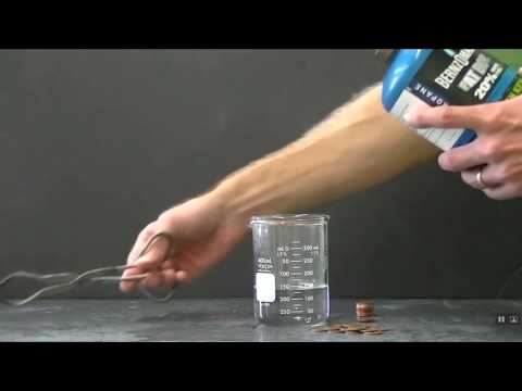 The most cost effective way to separate Copper from Zinc pennies