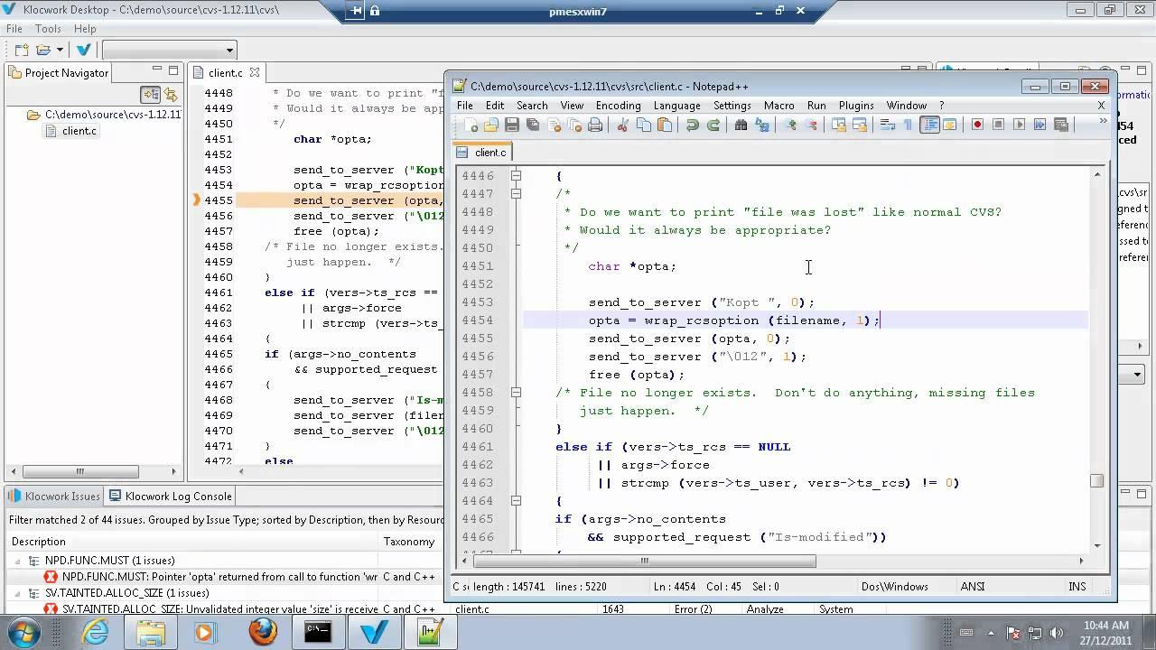 Klocwork Desktop Static Analysis Demo - YouTube