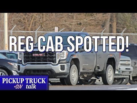 SPOTTED! 2020 GMC Sierra HD Regular Cab