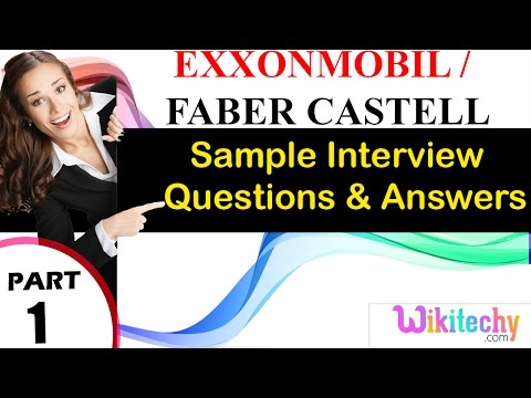 exxonmobil | faber castell top most interview questions and