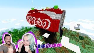 COCA COLA LUCKY BLOCK BATTLE Kaan vs Nina! Riesige Cola Dose mitten im Wald bei Minecraft!