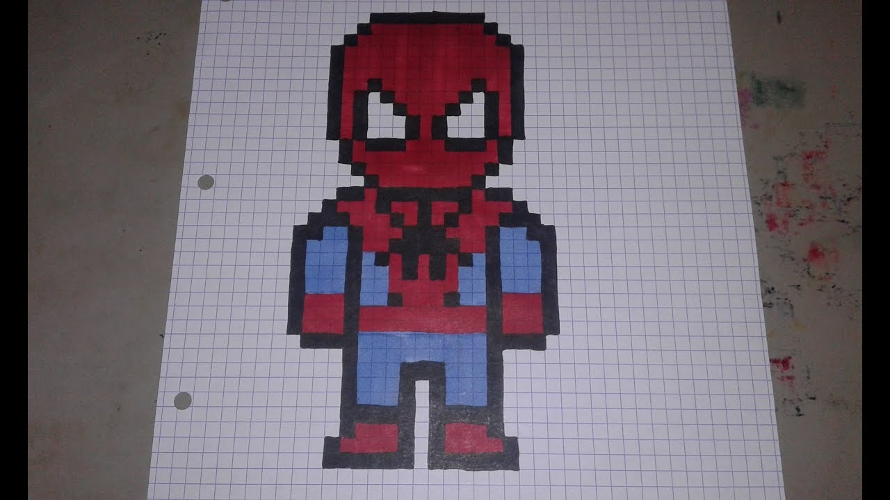 Spiderman Pixel Art Easy Speed Draw