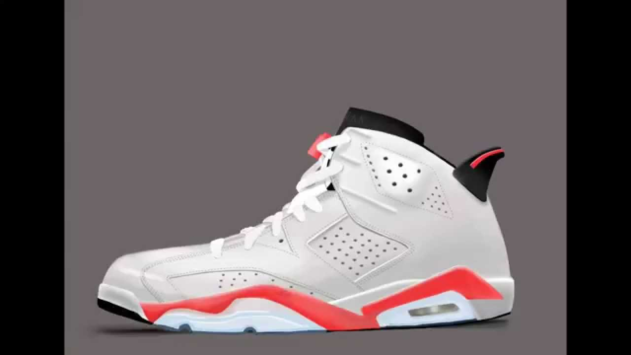 b4304ebe03d Jordan 6 Infrared White Drawing - YouTube