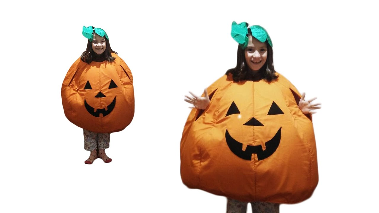 How to make a pumpkin costume - #64  sc 1 st  YouTube & How to make a pumpkin costume - #64 - YouTube