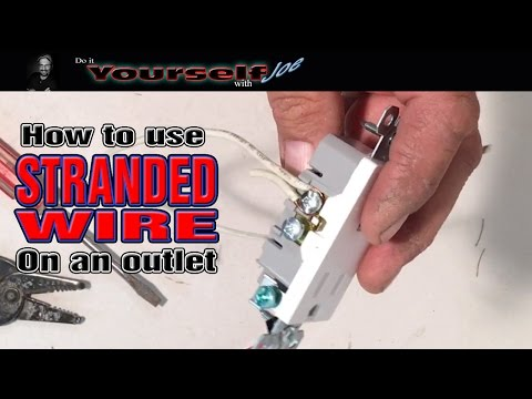 how to use stranded wire on an outlet - YouTube