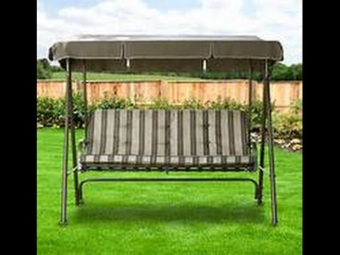 Walmart Patio Swing Cushions, Seat Support and Canopy Fabric Replacement