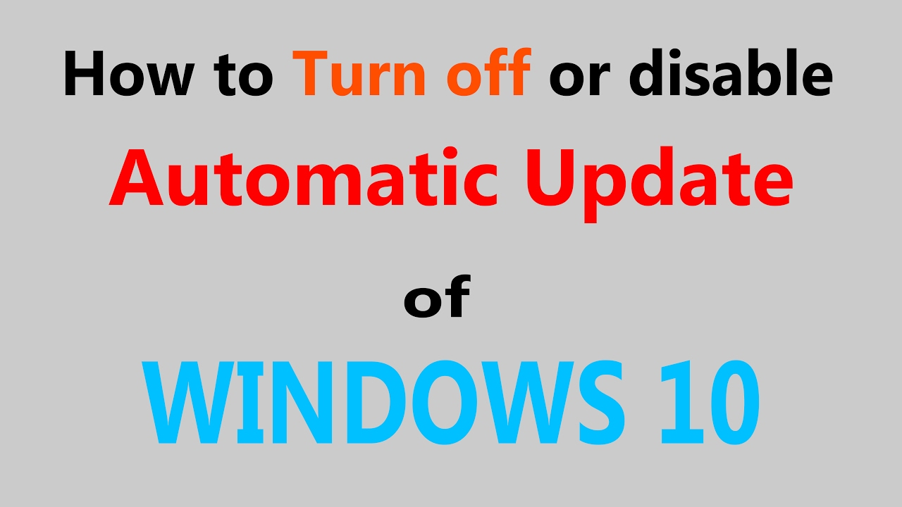 how to turn off auto updates on iphone how to turn or disable automatic update of windows 10 21135