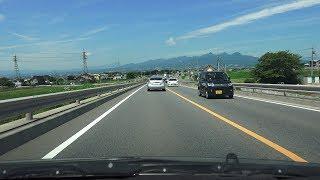 4K 国道17号・上武道路など 下り・全線等速 熊谷バイパス→渋川伊香保IC→上信自動車道分岐まで