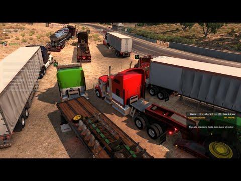 Multiplayer American Truck Simulator   Convoy de San Diego a Eureka   Kenworth W900
