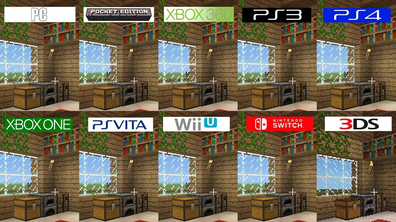 Minecraft  PC 10DS Switch PS10 Vita Pocket ONE 1060 PS10 WiiU  All versions  comparison
