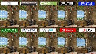 Minecraft | PC 3DS Switch PS4 Vita Pocket ONE 360 PS3 WiiU | All versions comparison