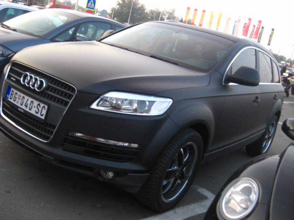 Audi Q7 Matt Black Youtube