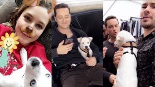 Sophia Bush takes her dog for recordings of Chicago P.D | Snapchat | October 2 2016