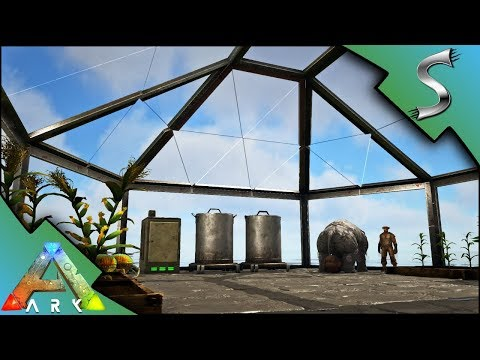 GREENHOUSE BUILD + DUNG BEETLE & PHIOMIA TAMING! - Ark: Survival Evolved [S4E43]