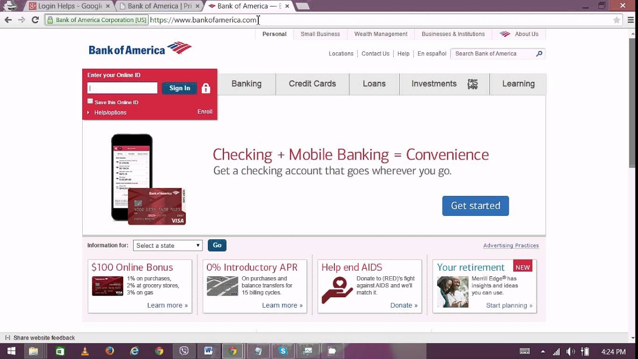 bank of america privacy assist login