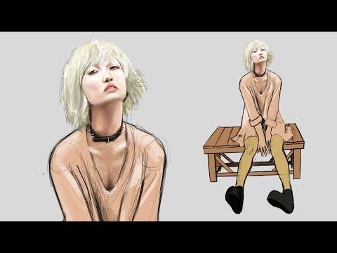 ART STREAM - Woman on Bench - Part 1