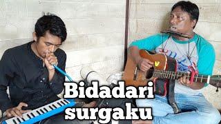 Download Mp3 Bidadari Surga Lirik Cover  Mas Dion Feat Angga