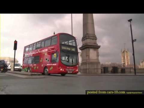 Eco Friendly Volvo hybrid double decker bus in London !