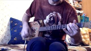 "The Beatles ""norwegian Wood"" - Cigar Box Guitar Cover By Captain Nemoff"