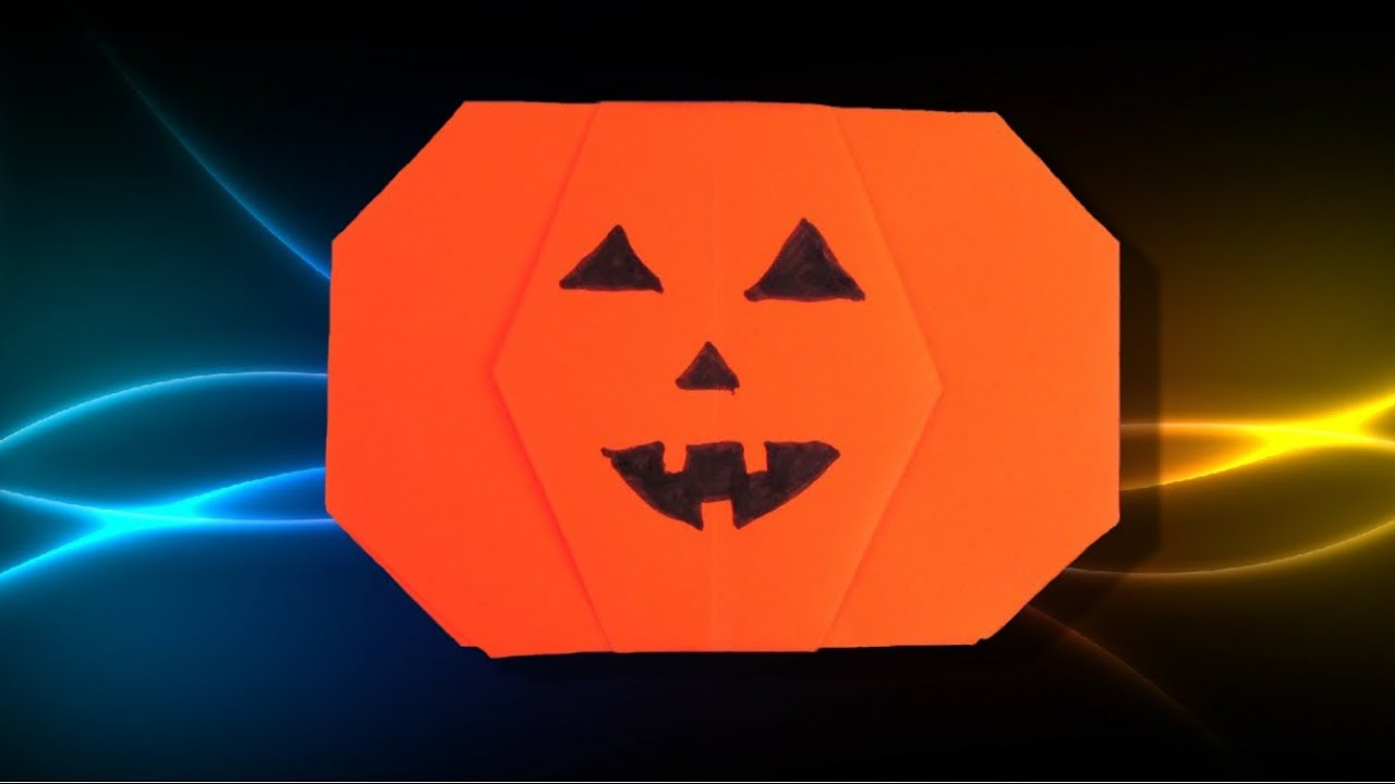 Origami Facile Citrouille Dhalloween Youtube