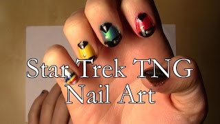 Star Trek TNG Nail Art Tutorial