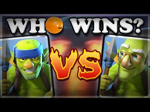Old & New Spear Goblins vs All Cards  Clash Royale 🍊
