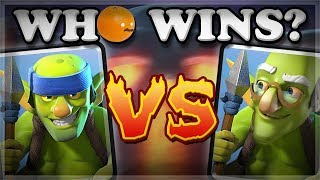 Old & New Spear Goblins vs All Cards | Clash Royale 🍊