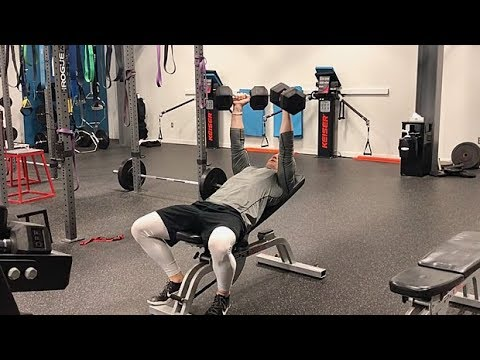 Slight Incline Dumbbell Bench Press