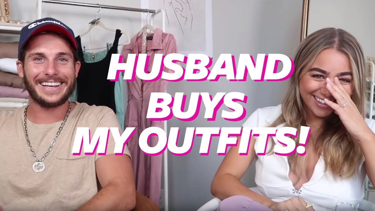 HUSBAND BUYS MY OUTFITS FROM PLT! National Girlfriend Day | Julia & Hunter 2