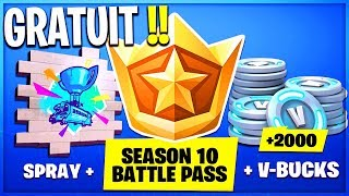 FORTNITE OFFRE THE SAISON COMBAT PASSE 10 - 2,000 V-BUCKS!