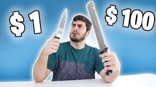 FACA DE $1 VS FACA DE $100 ! OLHA A DIFERENÇA !!