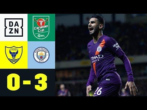 Riyad Mahrez trifft bei City-Gala: Oxford United – Manchester City 0:3 | Carabao Cup | DAZN