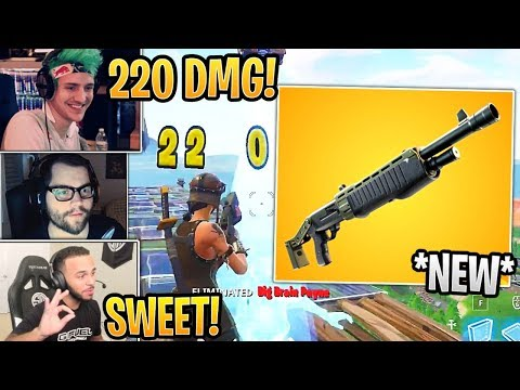 Streamers First Time Using *NEW* Legendary Pump Shotgun! - Fortnite Best and Funny Moments