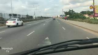 DRIVE AROUND IN ACCRA GHANA WEST AFRICA