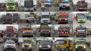 Vele Hulpdiensten met zwaailicht en sirene vanaf Rescue Vlissingen 2016 #460