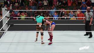 WWE 2K18 Wonder Woman vs. Lara Croft - Requested Submission Match