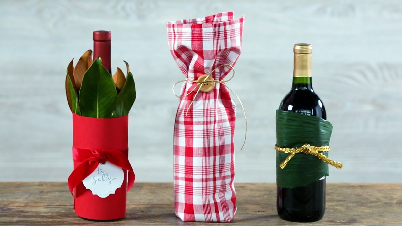 Three Creative Ways To Wrap A Wine Bottle Southern Living Youtube
