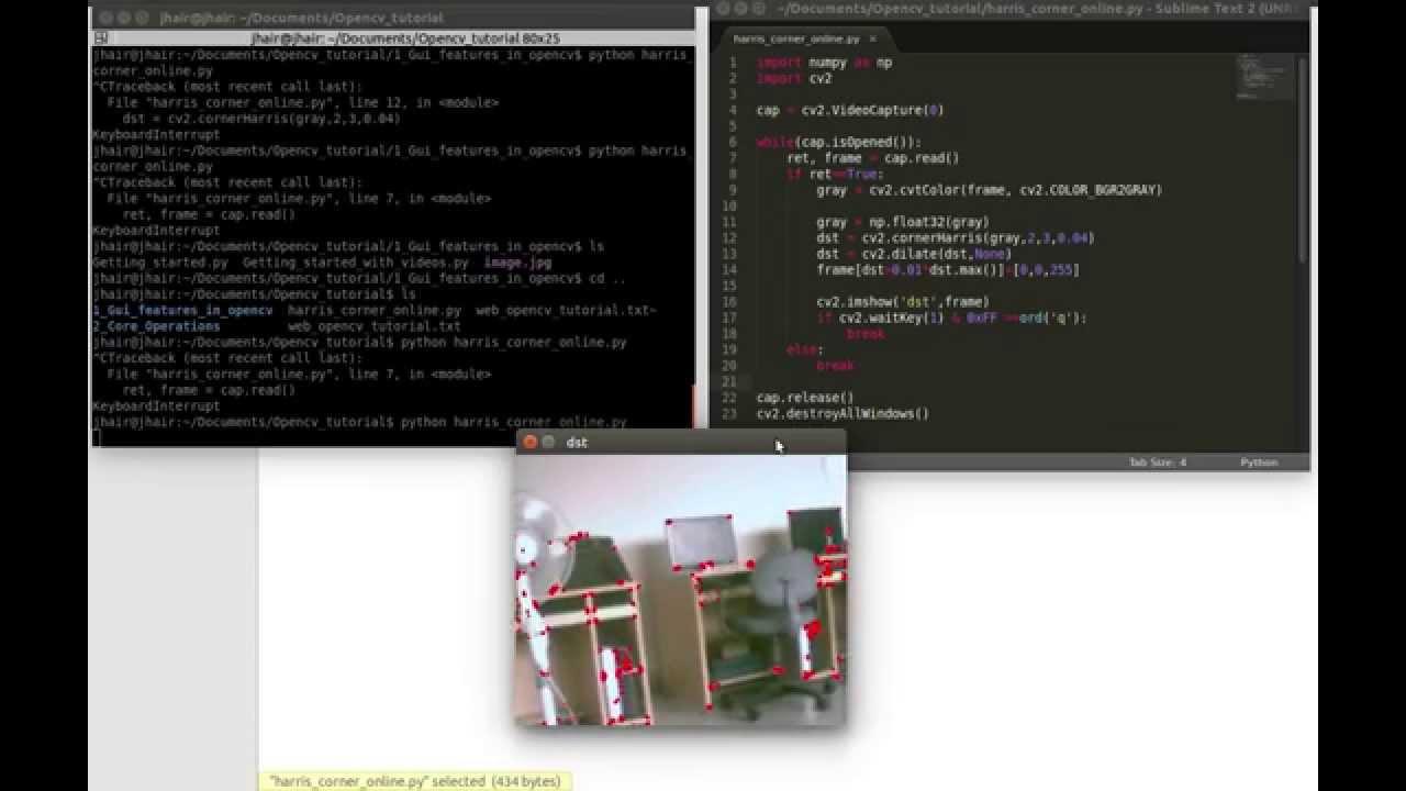 Harris Corner Detection - OpenCV