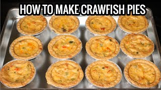 HOW TO MAKE NEW ORLEANS STYLE CRAWFISH PIES