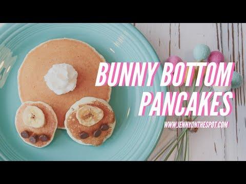 How to Make Bunny Bottom Pancakes!