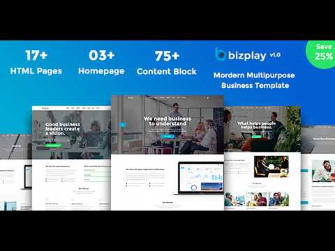 Bizplay - Business, Consultation & Finance PSD   Themeforest Website Templates and Themes