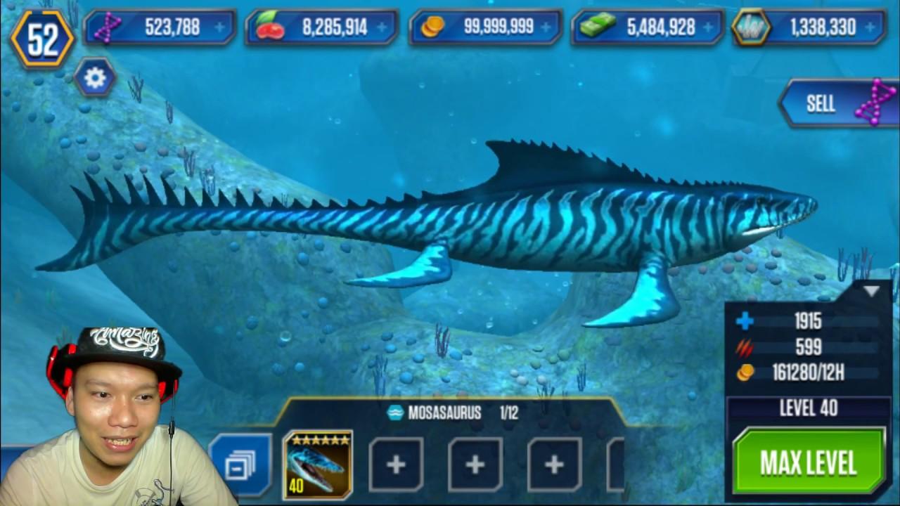 Jurassic World The Game tạo Mosasaurus HNT chơi game nuôi khủng long HD 1080 HNT Channel New 41