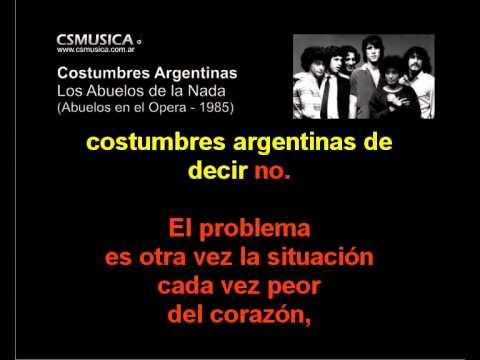 Los Abuelos De La Nada - Costumbres Argentinas - Karaoke