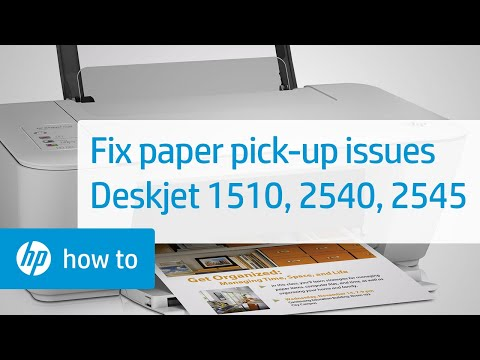 Printer Does Not Pick Paper: Deskjet 1510, 2540, and 2545 Printers | HP Deskjet | HP