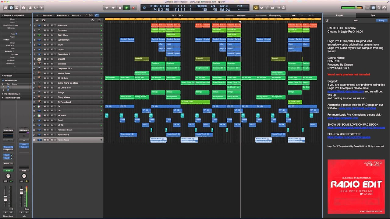 Logic pro x radio edit template youtube maxwellsz