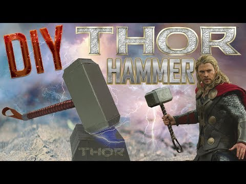DIY Prop   How to make Thor Hammer out of cardboard recycling   Best out of Waste